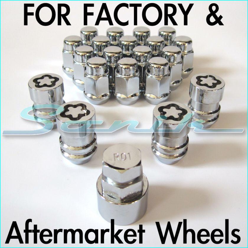 CHRYSLER DODGE JEEP Rim Wheel Locks Lug Nut Set 12x1.5