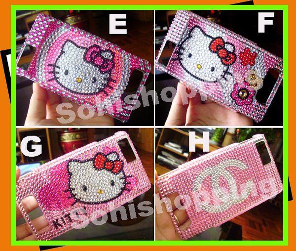4x Hello Kitty Bling Hard Case Motorola Droid X2 MB870