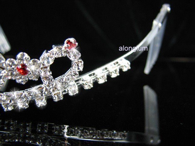 A108 8 Red Wedding Bridal Bridesmaid Swarovski Crystal Rhinestone Prom