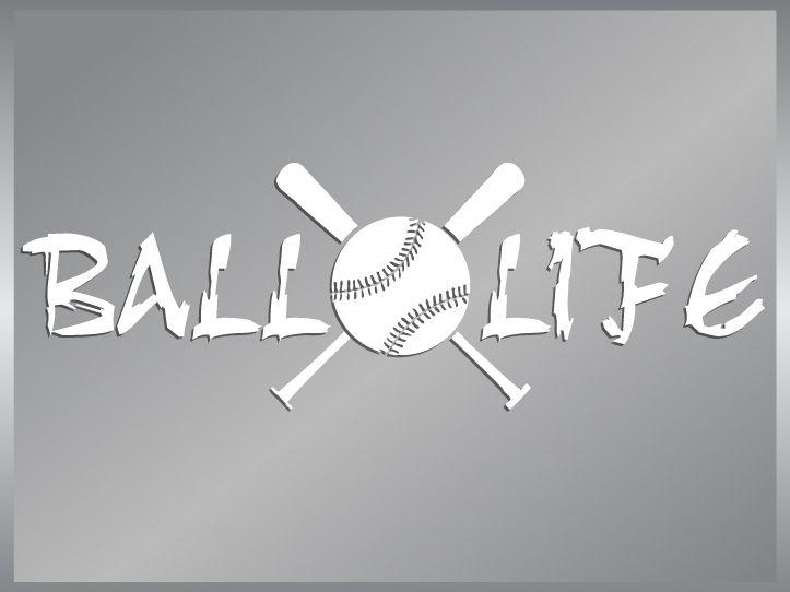 BALL LIFE cut vinyl decal sticker Baseball Life #1