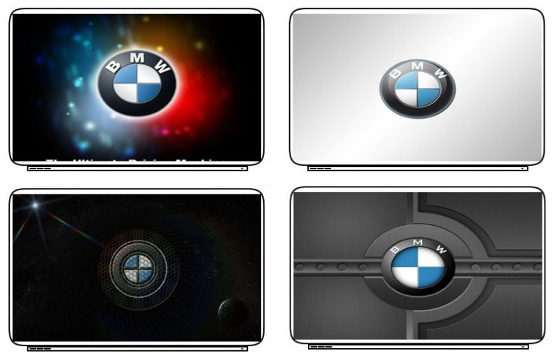 Emblem BMW Logo Laptop Netbook Skin Decal Cover Sticker