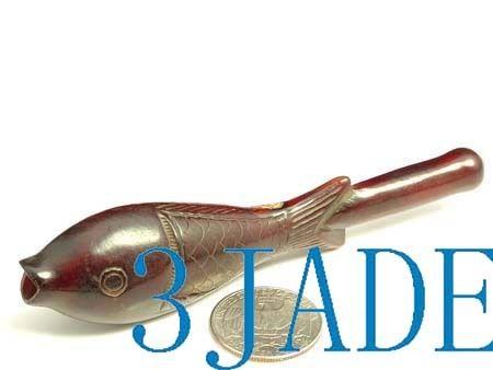 Hand Carved Yak Horn Fish Shape Cigarette Holder